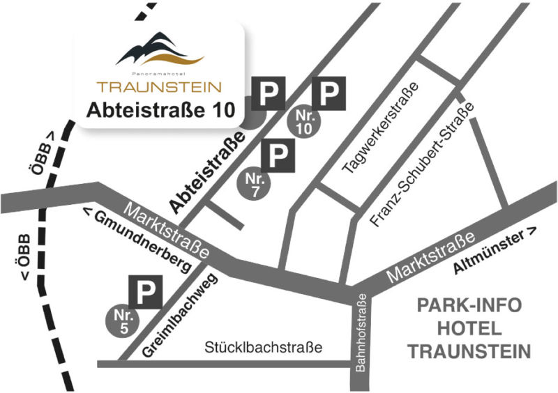Parking area Hotel Traunstein